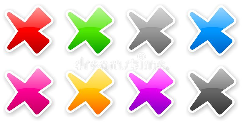 Download Stickers Of Color Glossy Check Marks Stock Illustration - Image: 33961673