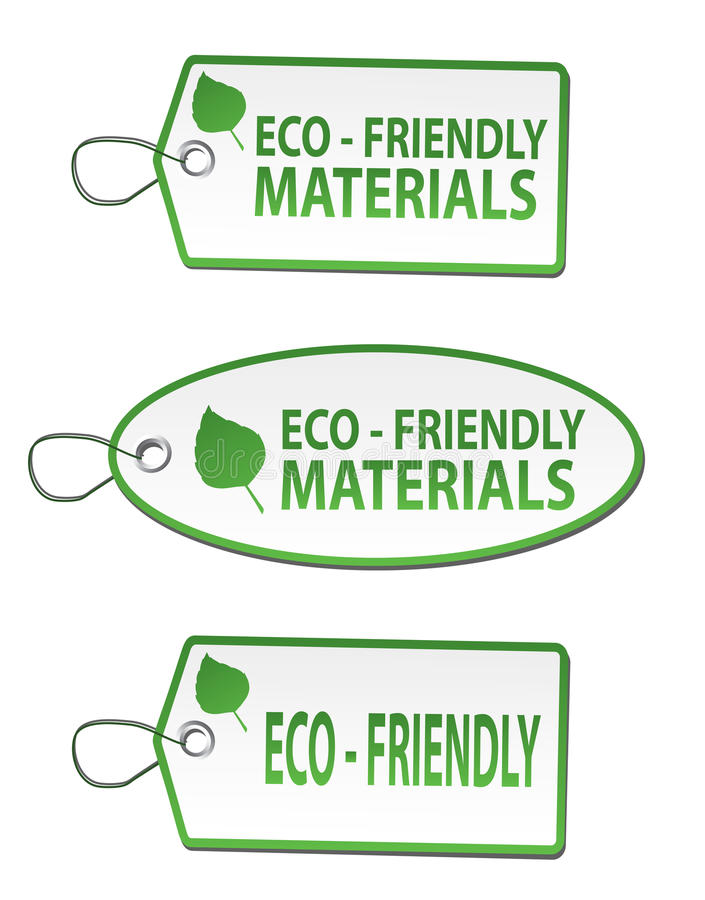 Stickers - eco vriendschappelijk materiaal royalty-vrije illustratie
