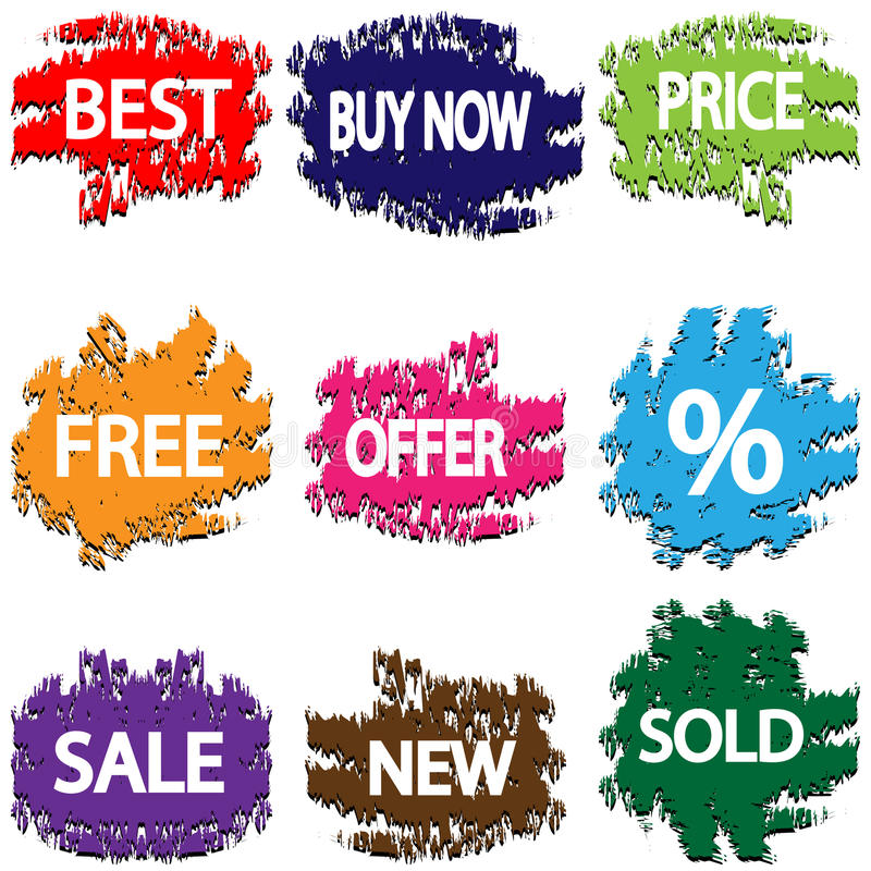 Download Stickers stock vector. Image of marketing, pink, offer - 31994223