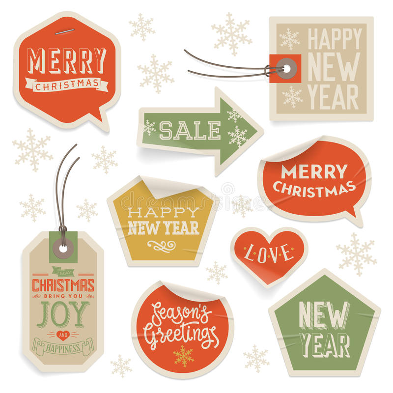 Download Stickers And Labels For Christmas And New Year Stock Photos - Image: 35162303