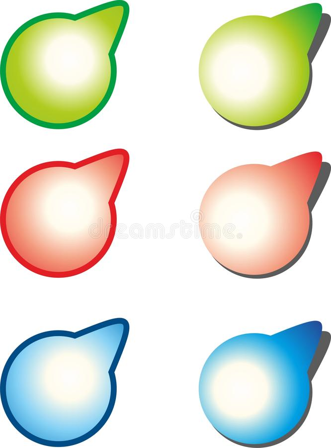 Download Stickers stock illustration. Image of button, label, mark - 35376104