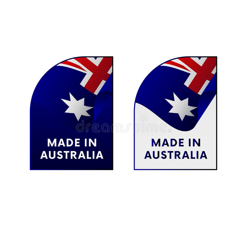 Download stickers made in australia vector stock illustration illustration of australia business