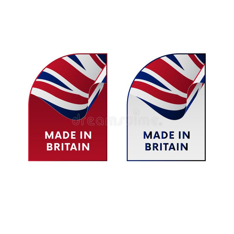 Stickers Made in Great Britain. Vector. vector illustration