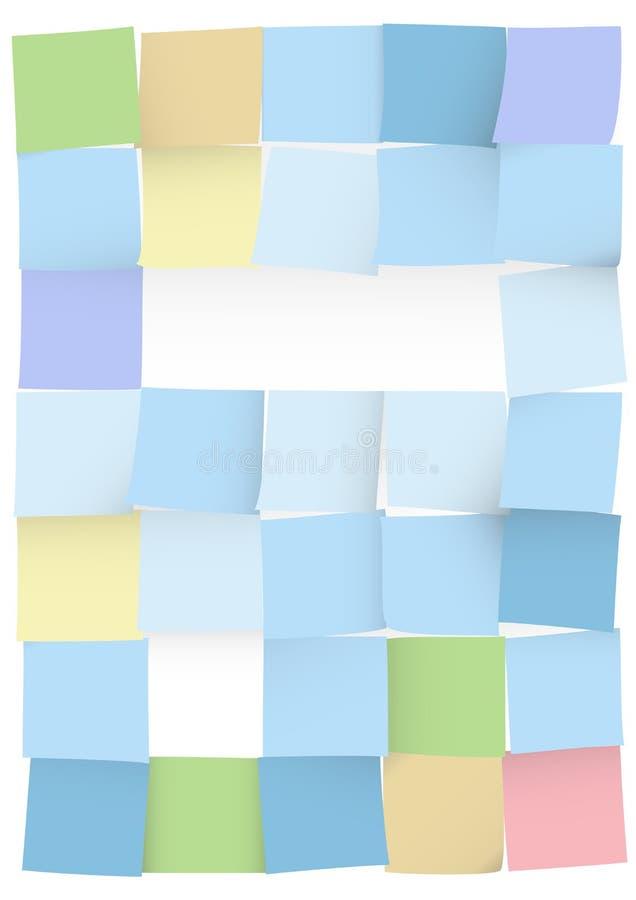 Stickers op wit stock afbeeldingen