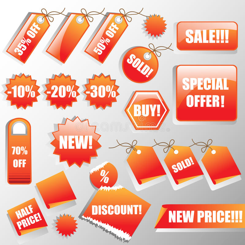 Stickers and Sales Tags vector illustration