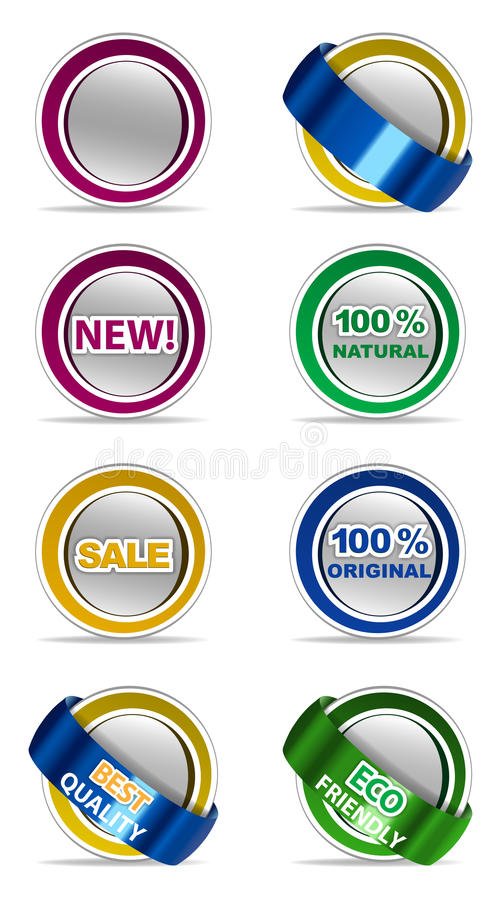 Download Stickers set stock vector. Image of white, label, sign - 31993369