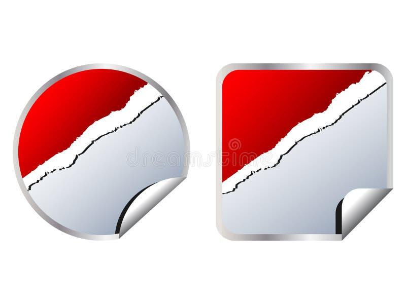stickers web διανυσματική απεικόνιση