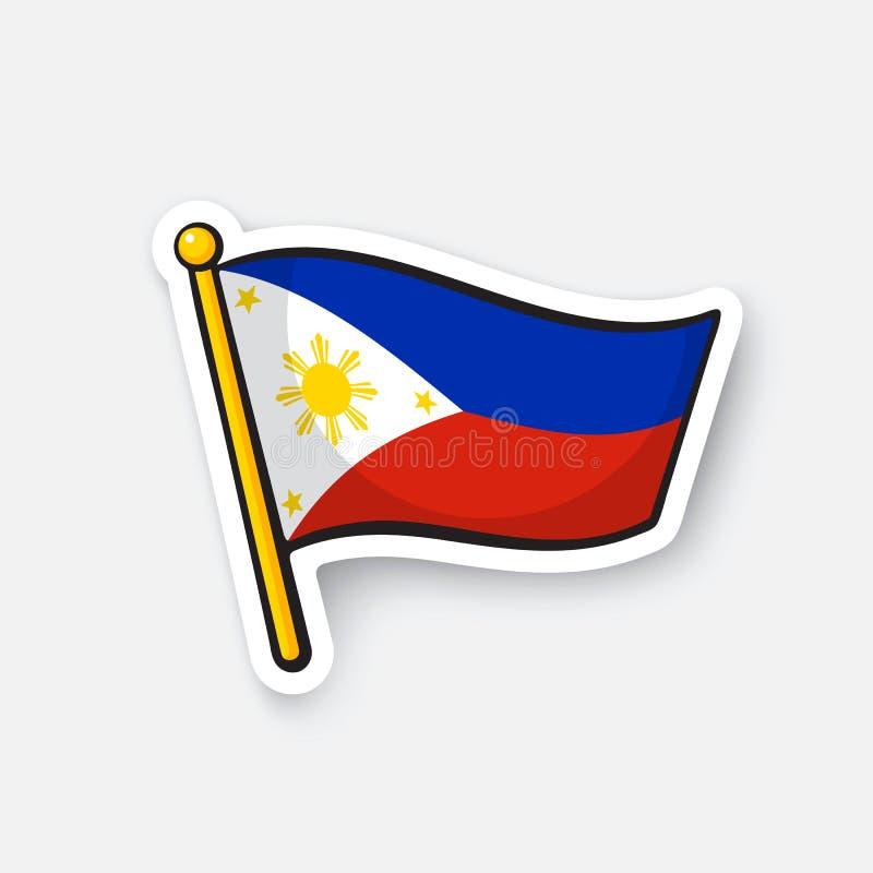 Stickervlag van de Filippijnen royalty-vrije illustratie