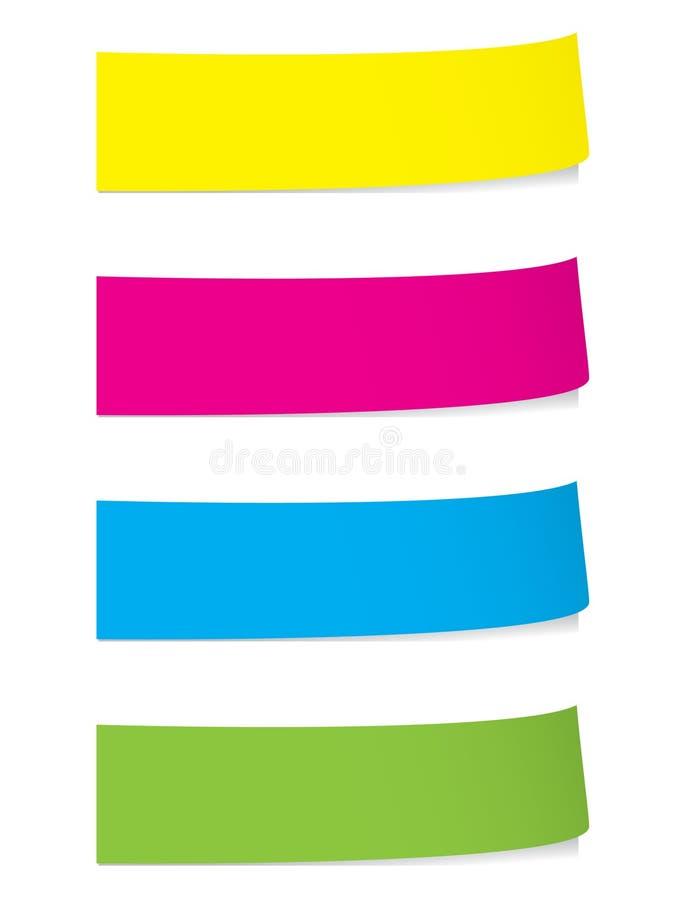 Download Stickies lumineux d'ombres illustration de vecteur. Illustration du bulletin - 8660082
