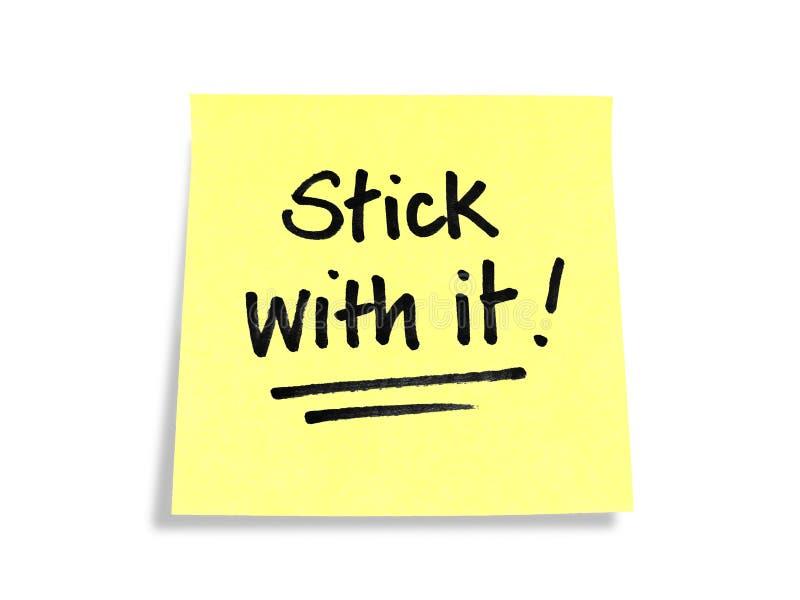 Stickies/notes de post-it : Bâton avec lui ! photos stock