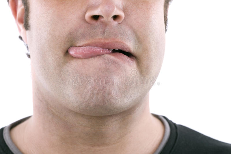 Download Sticking out tongue stock image. Image of caucasian, neck - 22200803