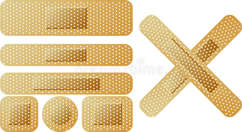 Download Sticking plaster stock vector. Image of pain, medicine - 23697296
