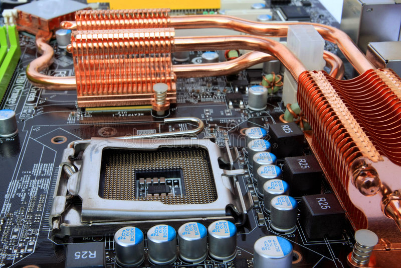 stickkontakt för processor för datordetaljmainboard royaltyfri fotografi