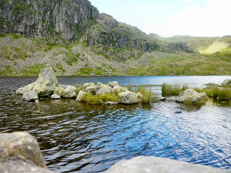 Stickle Tarn, Lake District, England. A different view of Stickle Tarn, Lake District stock image
