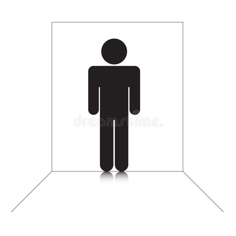 stickman的剪影 向量例证
