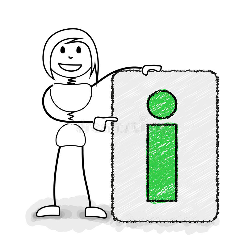 Stickman с доской информации бесплатная иллюстрация