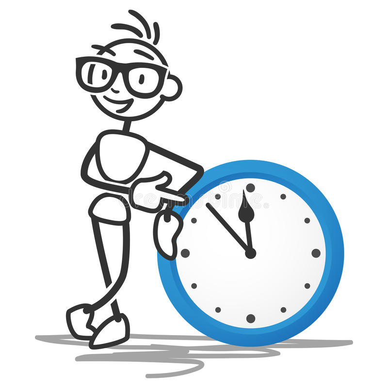 Stickman czasu zarządzania zegaru rozkład royalty ilustracja