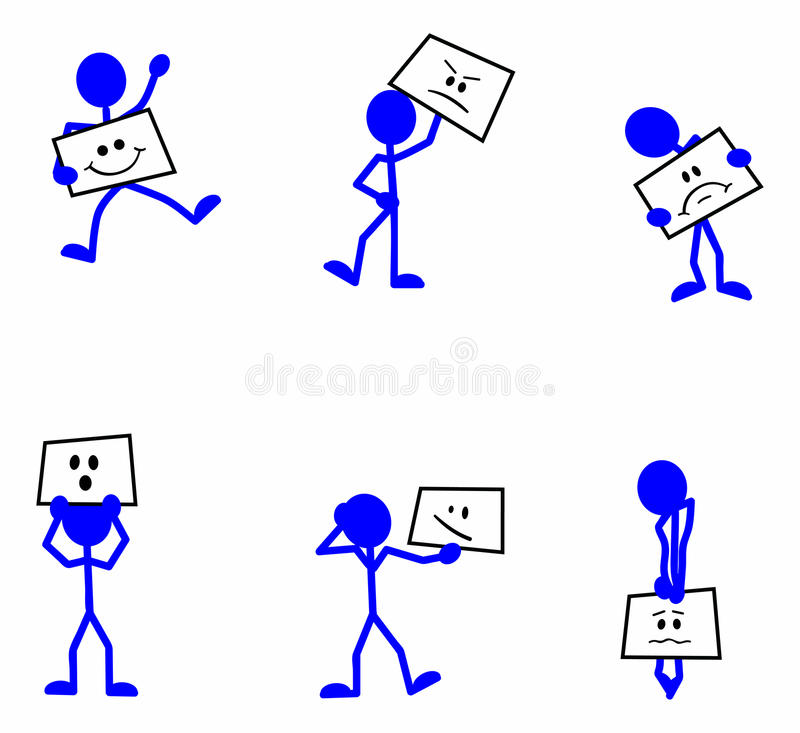 Stickman Face Expression Royalty Free Stock Images
