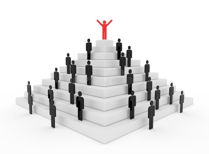 Stickman na górze пирамиды бесплатная иллюстрация