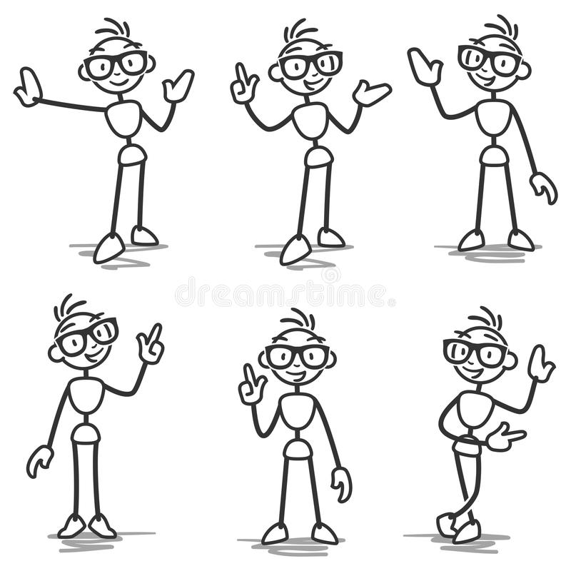 Free Stickman Stick Figure Pointing Showing Presenting Royalty Free Stock Images - 39586179