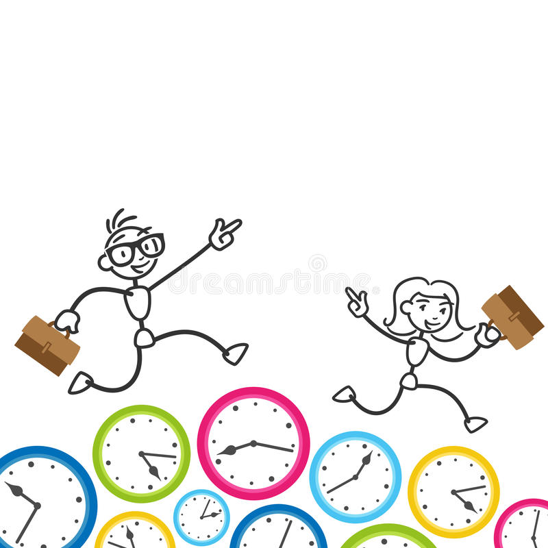 Free Stickman Time Management Deadline Appointment Stock Photo - 39791330