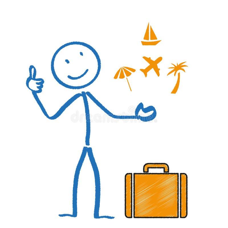 Stickman wakacje ilustracja wektor