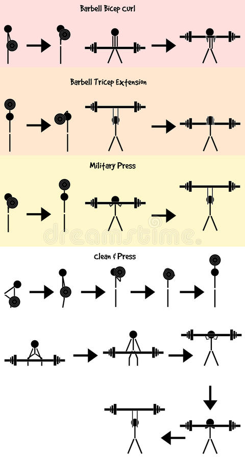 Download Stickman Weight Training Icon Vector Set Stock Vector - Image: 43475232