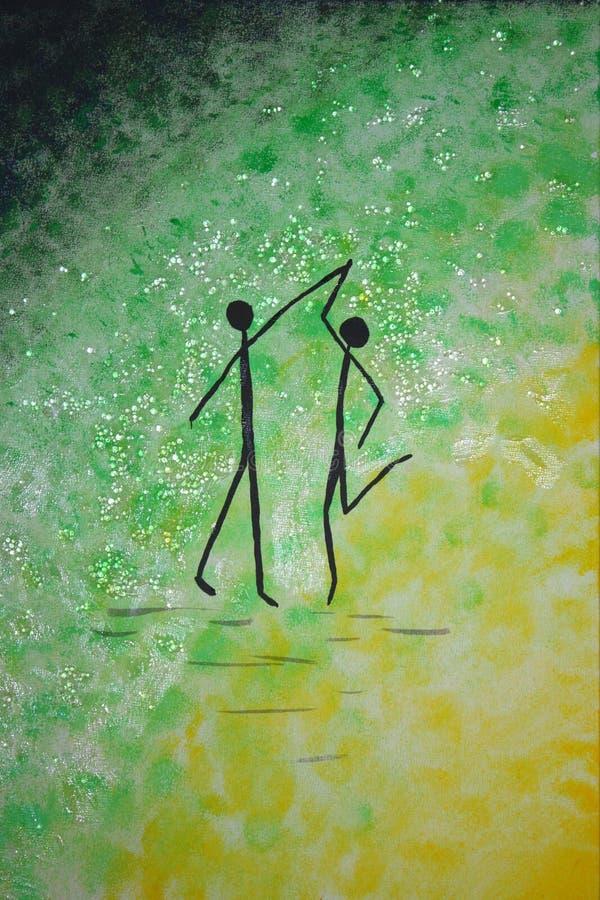 Stickmen da dança foto de stock