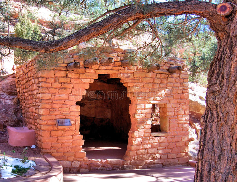 Sticks and Stones. Adobe ruins near the Native American Cliff Dwellings in Colorado royalty free stock images