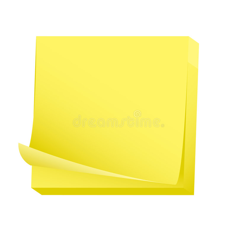 Download Sticky Blank Note Paper Pad Stock Vector - Illustration of organization, label: 7262052