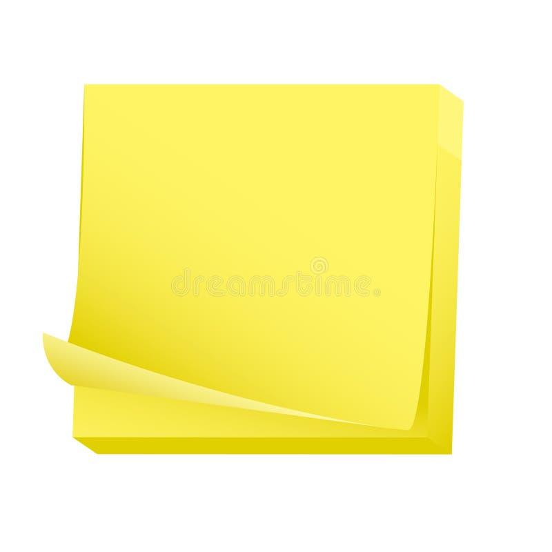 Sticky blank note paper pad royalty free illustration