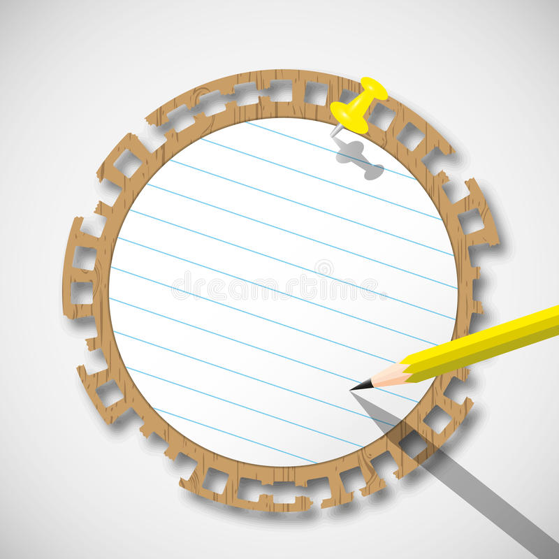 Download Sticky circle note paper stock illustration. Image of ripped - 22876400