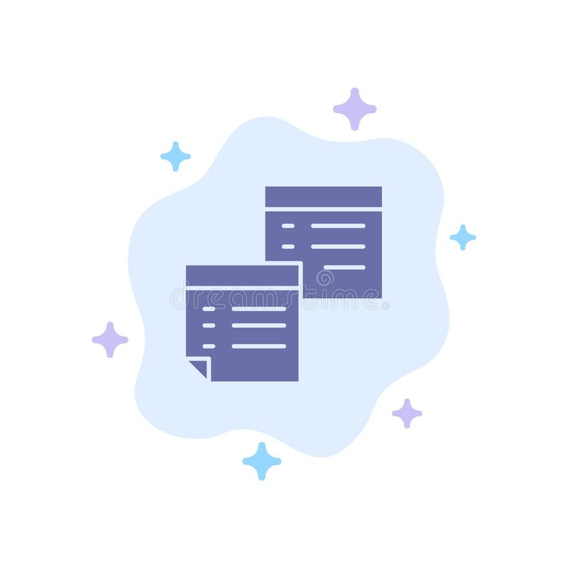 Sticky, Files, Note, Notes, Office, Pages, Paper Blue Icon on Abstract Cloud Background royalty free illustration