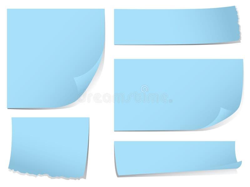 Sticky memo note set stock illustration