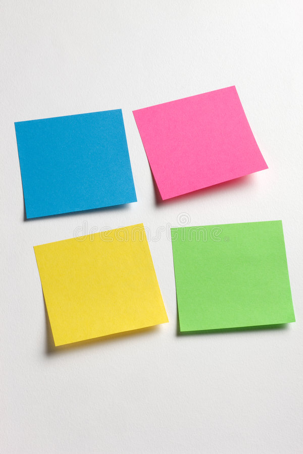 Sticky memo notes royalty free stock photography