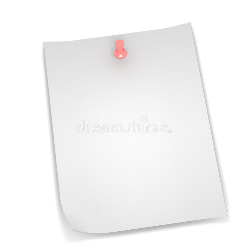 Sticky Note. A 3d image of stocky note on white background royalty free illustration