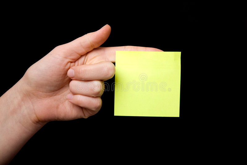 Download Sticky Note stock photo. Image of reminder, remember, finger - 3605052