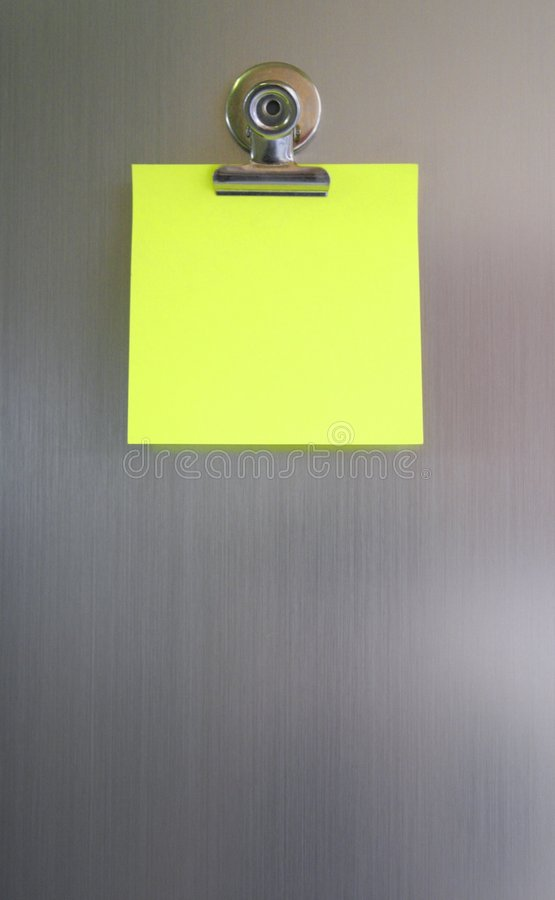 A Sticky note stock image