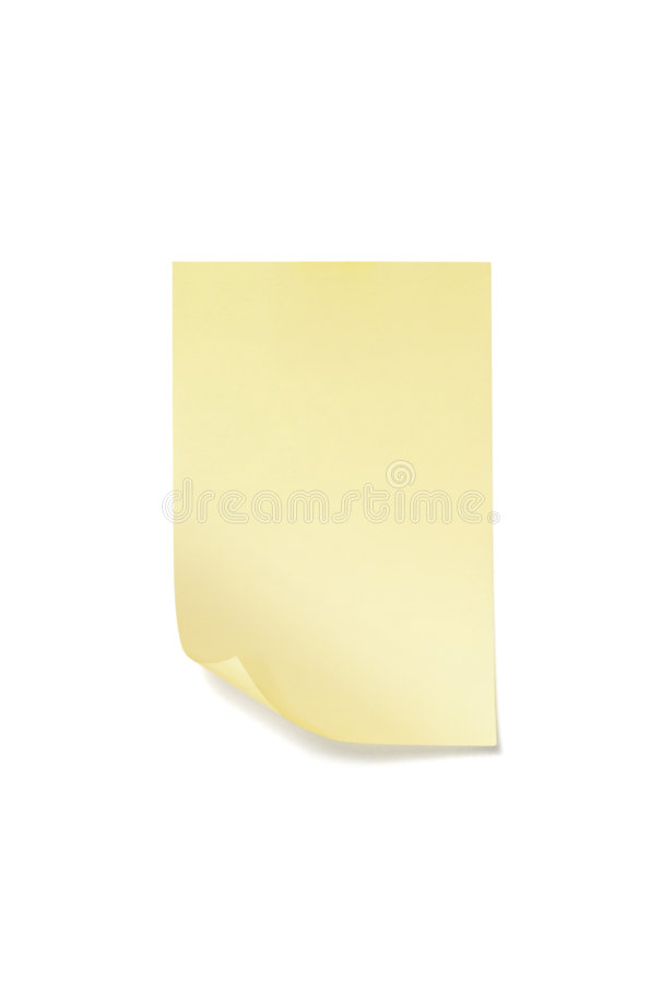 Download Sticky Note With Clipping Path Stock Photo - Image: 8155264