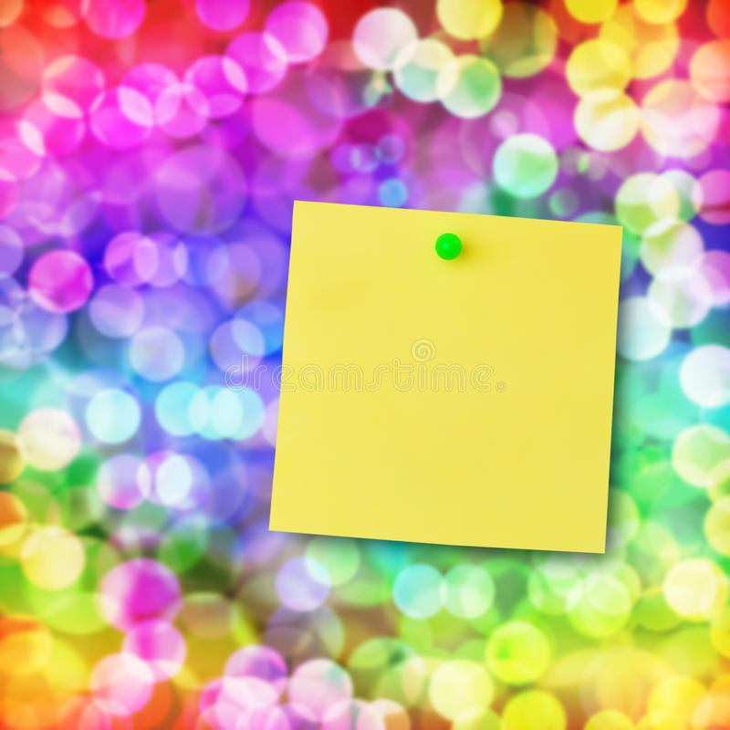 Download Sticky Note On Magical Light. Stock Photography - Image: 23662862