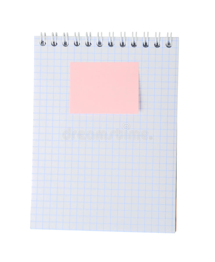 Download Sticky note on note pad stock image. Image of message - 30659913
