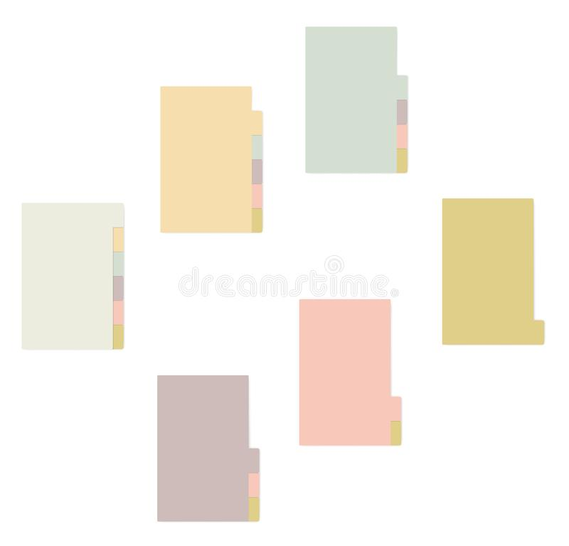 Sticky note notepad with side bookmarks, stick memo pads block royalty free illustration