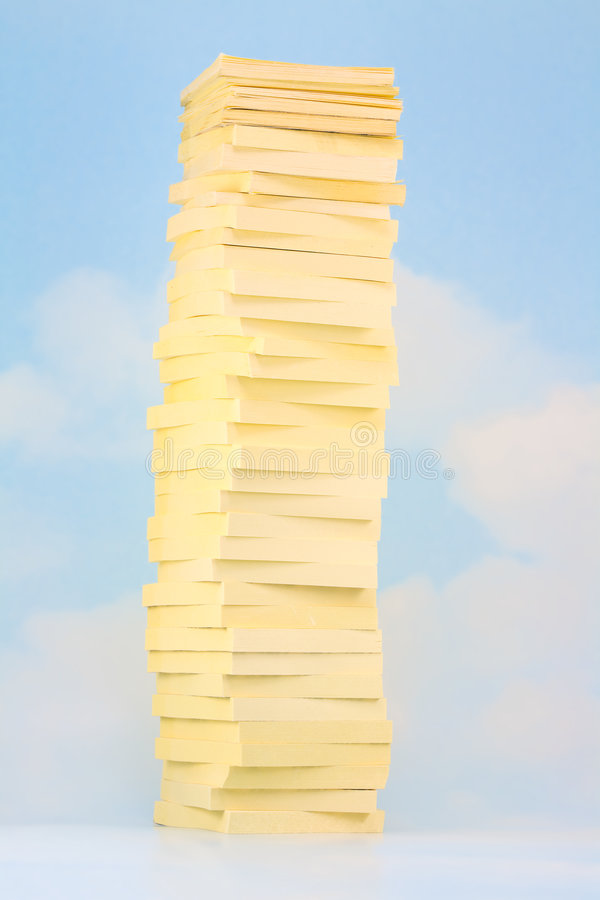 Download Sticky Note Sky Tower Stock Image - Image: 3392581