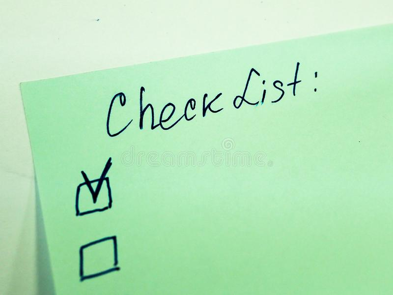Sticky note with text to do list, checklist royalty free stock photos