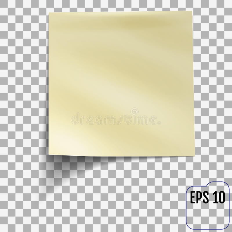 Sticky Note On Transparent Background. Template For You Stock