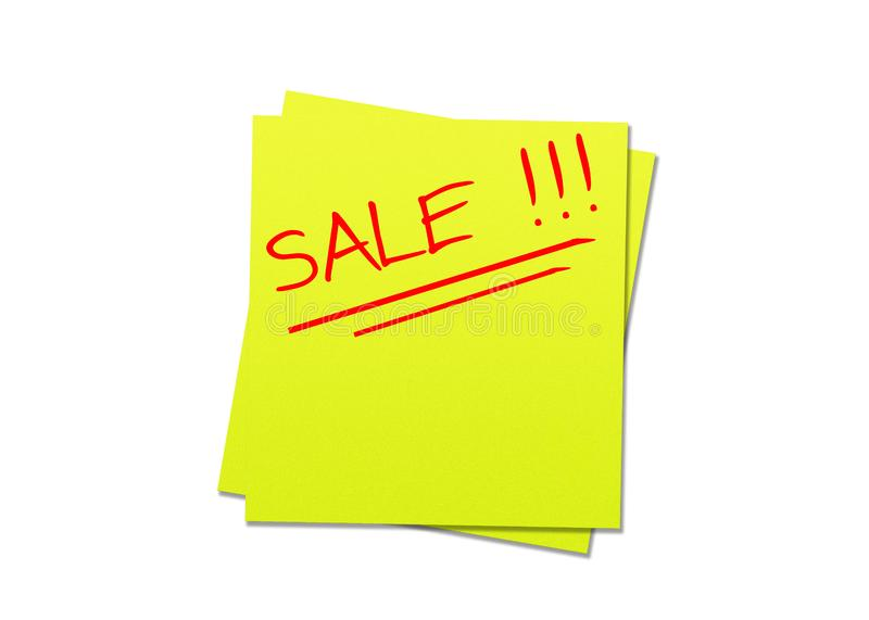Sticky note yellow royalty free stock photos