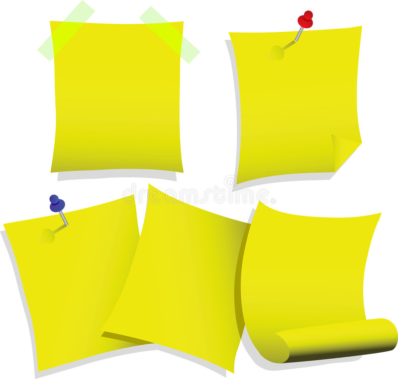 Download Sticky notes stock vector. Illustration of notepaper, clean - 3581327