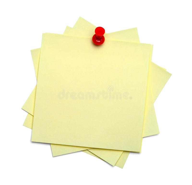 Sticky Notes Messy With Tack stock image