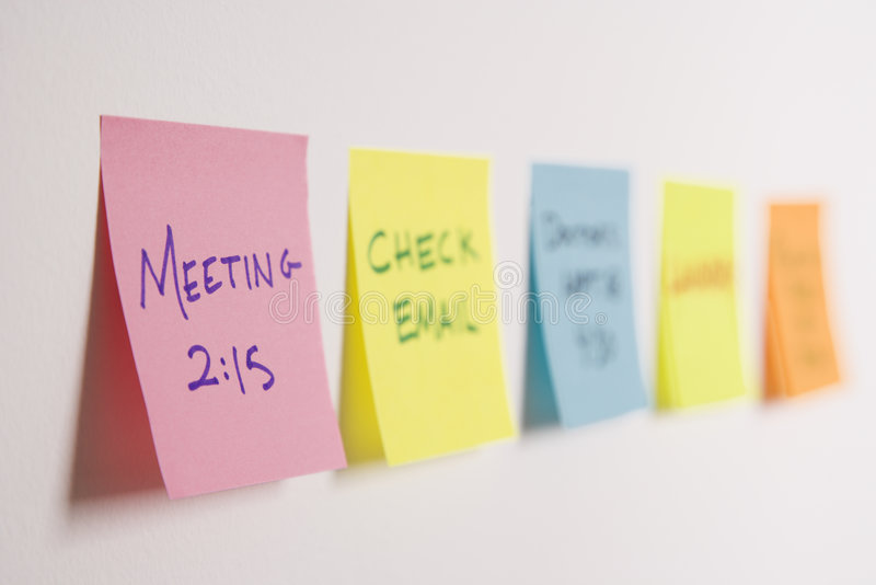 Download Sticky notes on wall. stock photo. Image of management - 2426182