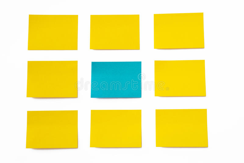 Sticky notes. On white background stock photos
